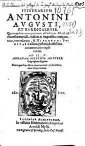 Itinerarium Antonini Avgusti, et Bvrdigalense