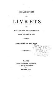 Collection des livrets des anciennes expositions depuis 1673 jusqu'en 1800: Volume40