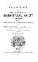 Transactions of the Illinois State Horticultural Society and the Illinois Fruit Council for the Year ...