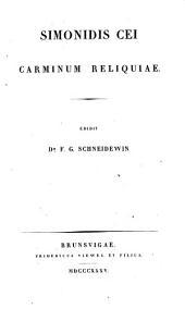 Simonidis Cei carminum reliquiae