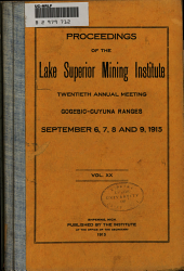 Proceedings of the Lake Superior Institute Annual Meeting: Volume 20