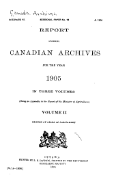 Report Concerning Canadian Archives for the Year ...