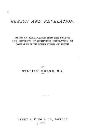 Reason and Revelation PDF