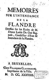 Mémoires sur l'intendance de la Flandre
