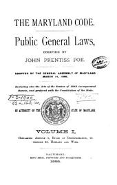 The Maryland Code: Public General Laws, Volume 1