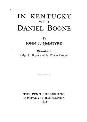 In Kentucky with Daniel Boone PDF