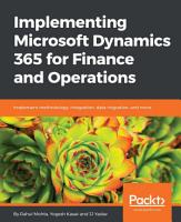 Implementing Microsoft Dynamics 365 for Finance and Operations PDF