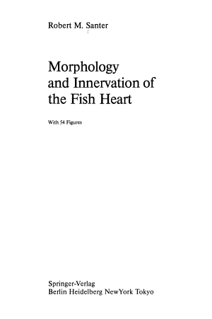 Morphology and Innervation of the Fish Heart