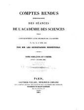 Comptes rendus hebdomadaires des séances de l'Académie des sciences: Volume61