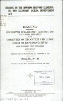 Hearing on the Hawkins Stafford Elementary and Secondary School Improvement Act PDF