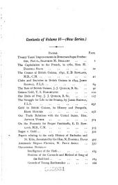 Timehri: The Journal of the Royal Agricultural and Commercial Society of British Guiana, Volume 6