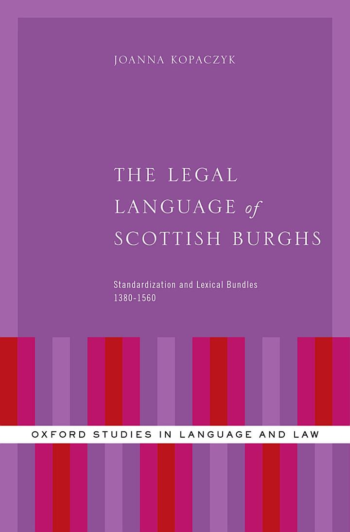 The Legal Language of Scottish Burghs