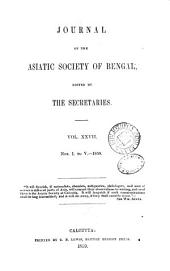 Journal of the Asiatic Society of Bengal: Volume 27