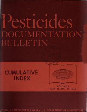 Pesticides Documentation Bulletin