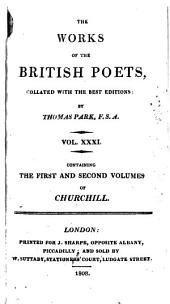 The Poetical Works of Charles Churchill: Volumes 1-2