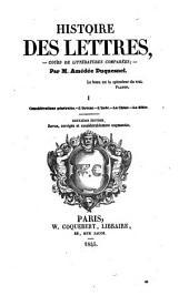 Histoire des lettres - cours de litteratures comparees- 2. ed. rev. corr. et augm: Volume2