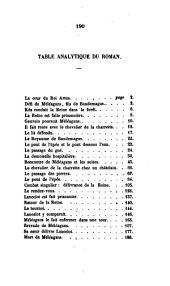 Le roman du Chevalier de la Charrette