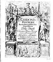 Res memorabiles sive deperditae, commentariis ill. et auctae ab Henrico Salmuth