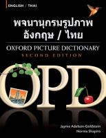 Oxford Picture Dictionary English Thai Edition  Bilingual Dictionary for Thai speaking teenage and adult students of English PDF