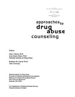 Approaches to Drug Abuse Counseling Book