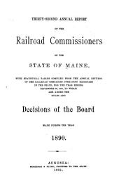 Annual Report of the Railroad Commissioners of the State of Maine: Volume 32