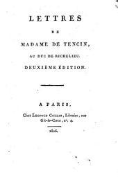 Lettres au duc de Richelien