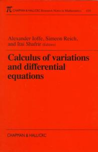 Calculus of Variations and Differential Equations Book