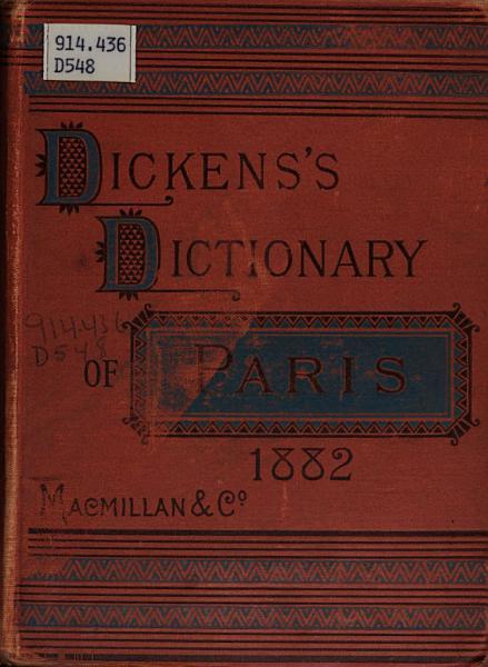 Download Dickens s Dictionary of Paris  1882 Book