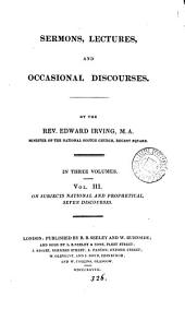 Sermons, lectures, and occasional discourses: Volume 3
