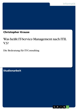 Was hei  t IT Service Management nach ITIL V3  PDF