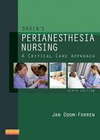 Drain s PeriAnesthesia Nursing   E Book PDF