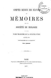 Comptes rendus hebdomadaires des séances et mémoires de la Société de biologie: Volume28