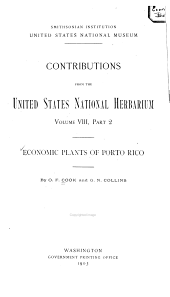 Economic Plants of Puerto Rico