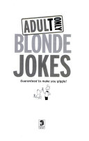 Adult Only Blonde Jokes
