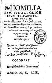 Homiliarum Tripartitarum: pars 1-3, Volume 3