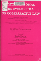 International Encyclopedia of Comparative Law  Contracts in general PDF
