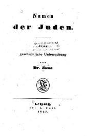 Namen der Juden: Eine geschichtliche Untersuchung