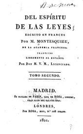 Del espíritu de las leyes: Volumen 2