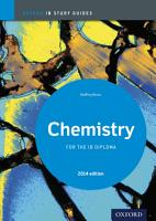 Oxford IB Study Guides  Chemistry for the IB Diploma PDF