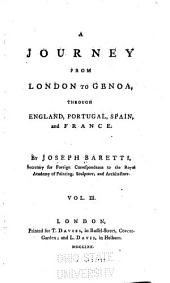 A Journey from London to Genoa: Through England, Portugal, Spain and France, Volume 3