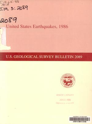 United States Earthquakes 1986