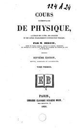 Cours élémentaire de physique