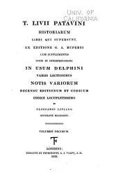 Scriptores latini, jussu christianissimi regis ad usum serenissimi Delphini: Livius, Titus