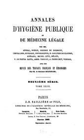 Annales d'hygiène publique et de médecine légale: Volume 23
