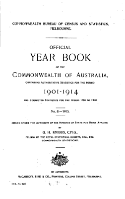 Official Year Book of the Commonwealth of Australia  No  8   1915 PDF