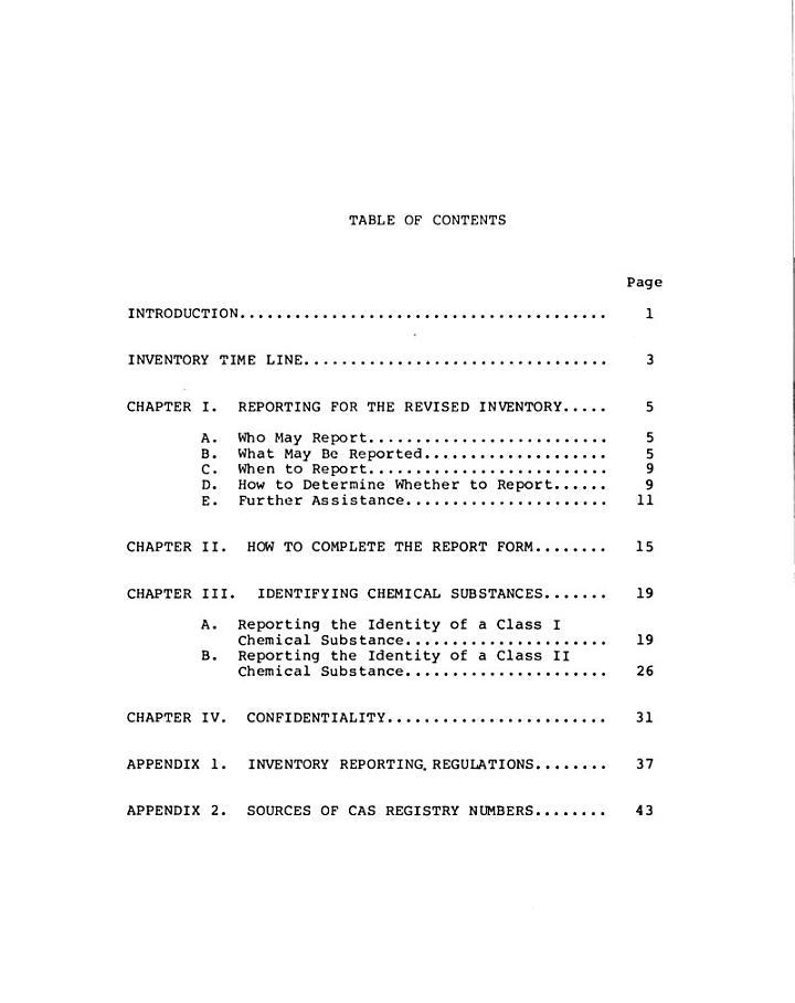 The Toxic Substances Control Act, Public Law 94-469
