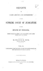 Reports of Cases Argued and Determined in the Supreme Court of Judicature of the State of Indiana: Volume 93