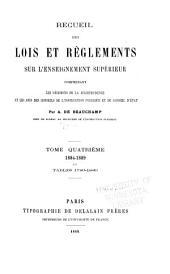 Recueil des lois et règlements sur l'enseignement supérieur, comprenant les décisions de la jurisprudence et les avis des conseils de l'instruction publique et du Conseil d'état. 1789-1914: Volume4