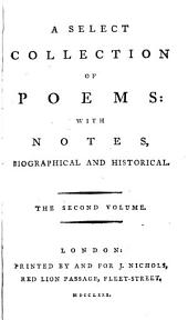 A Collection of Poems: With Notes, Biographical And Historical, Volume 2