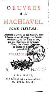 Oeuvres de Machiavel: Volume6